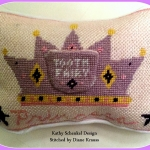 Moore Than Needlepoint Anna's Tooth pillow