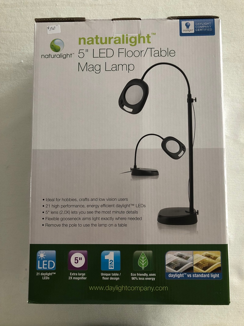 Naturalight 5 Inch LED Floor-Table Mag Lamp